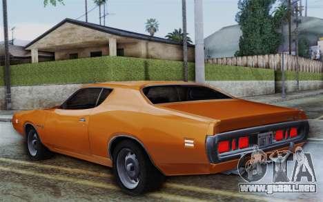 Dodge Charger 1971 Super Bee para GTA San Andreas left