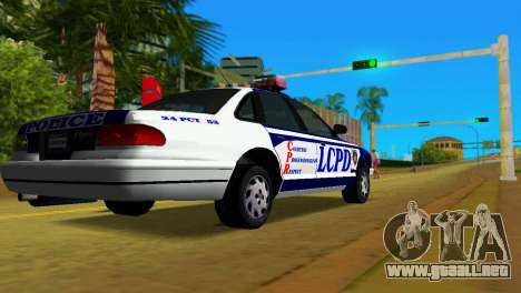GTA IV Police Cruiser para GTA Vice City left