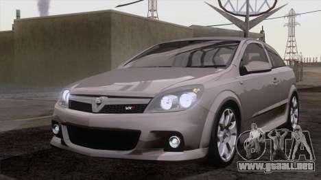 Vauxhall Astra VXR  2007 para visión interna GTA San Andreas