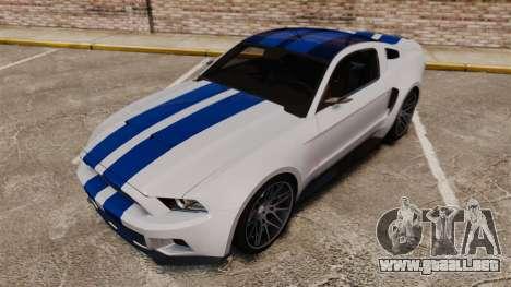 Ford Mustang GT 2013 NFS Edition para GTA 4 vista superior
