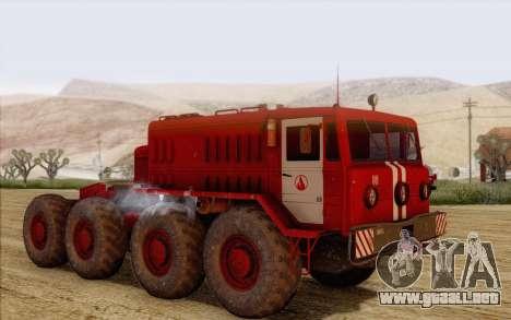 MAZ 535 bombero para GTA San Andreas left