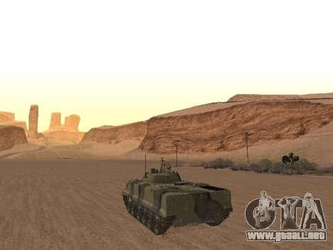 BMP-3 para GTA San Andreas vista posterior izquierda