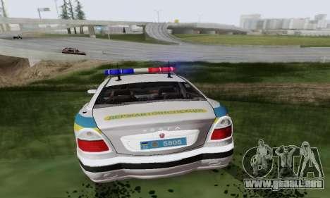 GAS-3111 Miliciâ Ucrania para GTA San Andreas vista hacia atrás