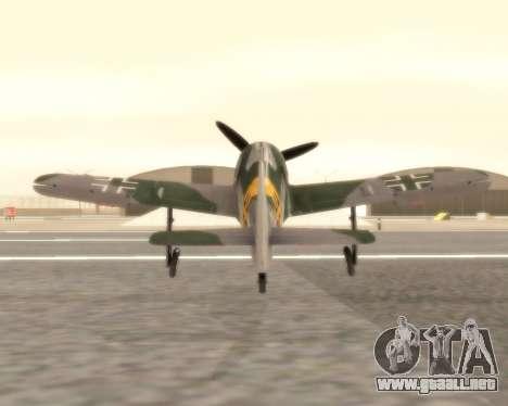 Focke-Wulf FW-190 F-8 para la visión correcta GTA San Andreas