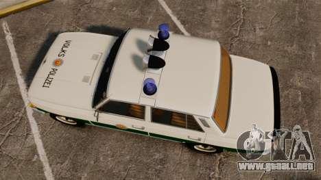 Wartburg 353 W Deluxe Polizei para GTA 4 visión correcta
