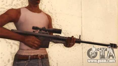 Barrett de Call of Duty MW2 para GTA San Andreas tercera pantalla