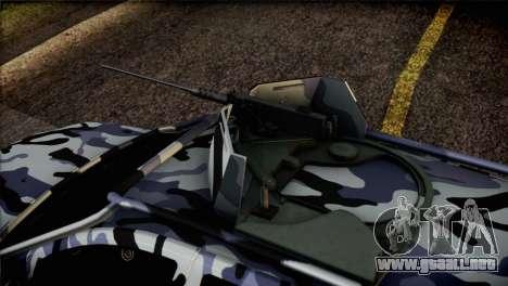 Dacia Duster Army Skin 3 para GTA San Andreas vista hacia atrás