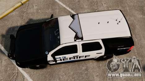Chevrolet Tahoe 2008 Federal Signal Valor [ELS] para GTA 4 visión correcta