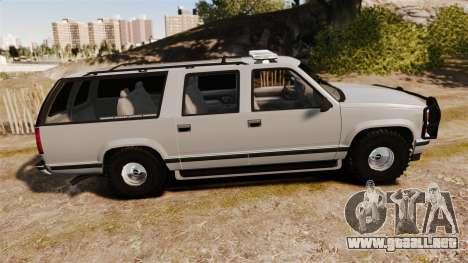 Chevrolet Suburban 1999 Police [ELS] para GTA 4 left