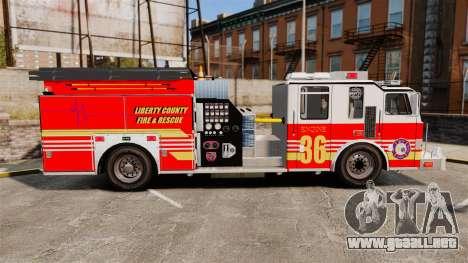 Firetruck LCFR [ELS] para GTA 4 left