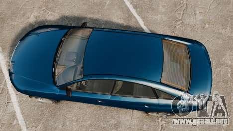 GTA V Tailgater (Michael Car) para GTA 4 visión correcta