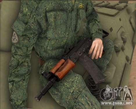 AKS-74U para GTA San Andreas segunda pantalla