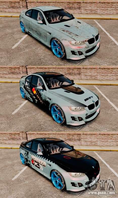BMW M3 GTS Widebody para GTA motor 4