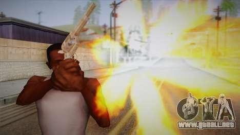 Colt Peacemaker (cromo) para GTA San Andreas tercera pantalla