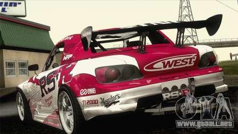 Honda S2000 RS-R para vista lateral GTA San Andreas