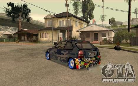 Honda Civic para GTA San Andreas left