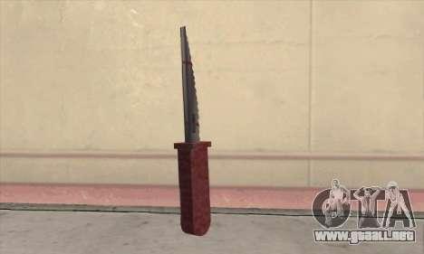 Faca Knife para GTA San Andreas segunda pantalla