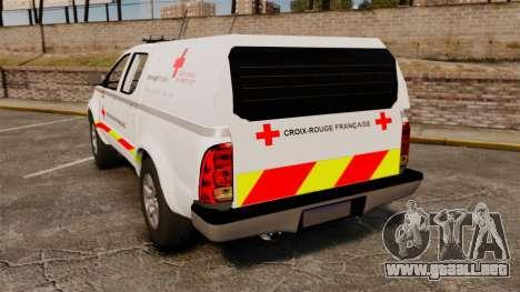 Toyota Hilux French Red Cross [ELS] para GTA 4 Vista posterior izquierda