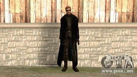 Albert Wesker en el manto para GTA San Andreas