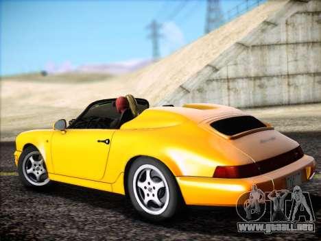 Porsche 911 Speedster Carrera 2 1992 para visión interna GTA San Andreas