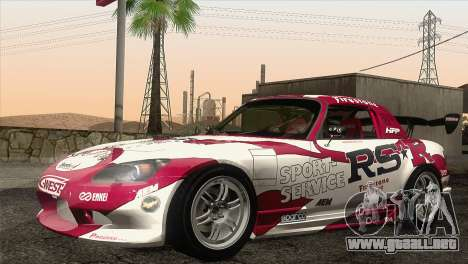 Honda S2000 RS-R para la vista superior GTA San Andreas
