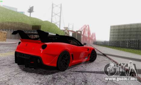 Ferrari 599XX Evolution para la vista superior GTA San Andreas