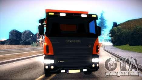 Scania P420 para GTA San Andreas vista posterior izquierda
