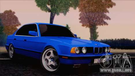 BMW 535i E34 Mafia Style para GTA San Andreas vista posterior izquierda