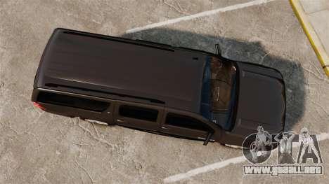 Chevrolet Suburban Slicktop 2008 [ELS] para GTA 4 visión correcta