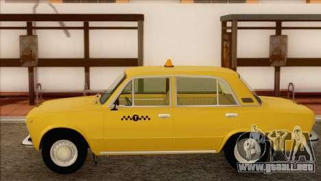 VAZ 21011 de Taxi para GTA San Andreas vista posterior izquierda