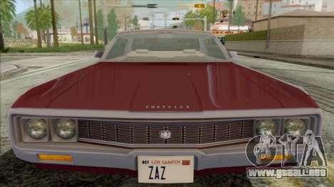 Chrysler New Yorker 4 Door Hardtop 1971 para la visión correcta GTA San Andreas