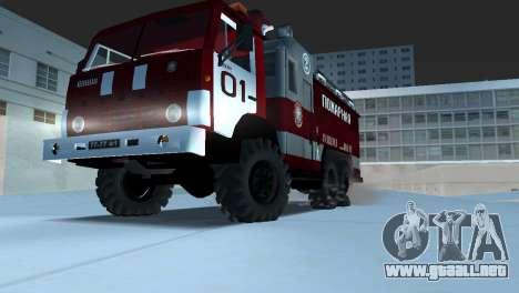 KAMAZ 43101 bombero para GTA Vice City visión correcta