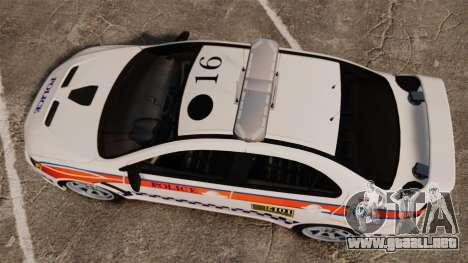 Mitsubishi Lancer Evo X Humberside Police [ELS] para GTA 4 visión correcta