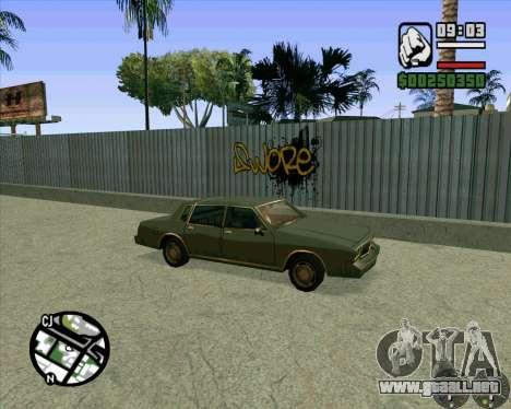 Nuevo HD Skate Park para GTA San Andreas quinta pantalla