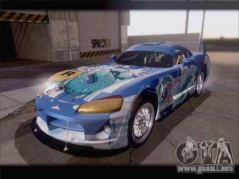 Dodge Viper Competition Coupe para visión interna GTA San Andreas