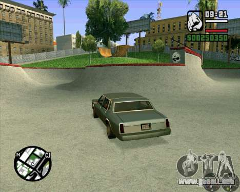 Nuevo HD Skate Park para GTA San Andreas sexta pantalla