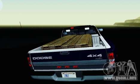 Dodge Ram 3500 para la vista superior GTA San Andreas