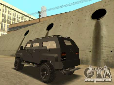 Ford Super Duty Armored para GTA San Andreas left