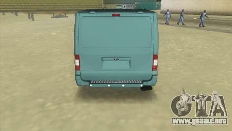 Ford Transit Sportback 2011 para GTA Vice City vista lateral izquierdo
