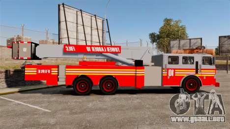 MTL Firetruck Tower Ladder [ELS-EPM] para GTA 4 left