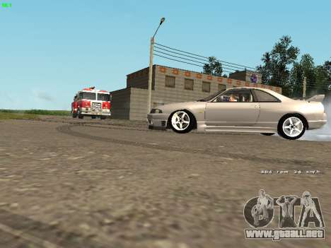 Nissan Skyline R33 GT-R para GTA San Andreas vista posterior izquierda
