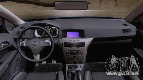 Vauxhall Astra VXR  2007 para la visión correcta GTA San Andreas