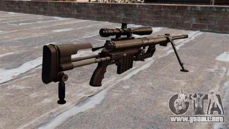 Rifle de francotirador CheyTac intervención para GTA 4 segundos de pantalla