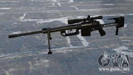 Rifle de francotirador CheyTac intervención para GTA 4 tercera pantalla