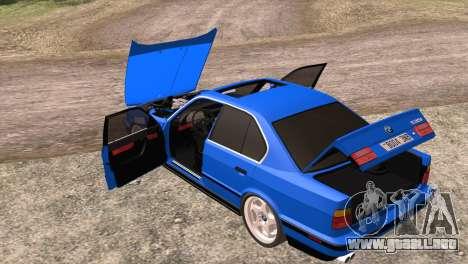 BMW 535i E34 Mafia Style para vista lateral GTA San Andreas