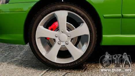 Ford Falcon XR8 para GTA 4 vista hacia atrás