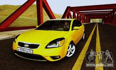 Kia Rio II 2009 para la vista superior GTA San Andreas