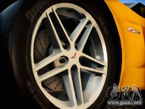Chevrolet Corvette Z06 2006 v2 para la visión correcta GTA San Andreas