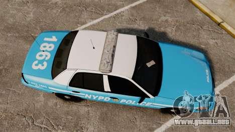 Ford Crown Victoria NYPD [ELS] para GTA 4 visión correcta