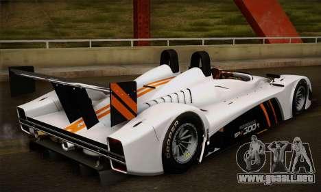 Caterham-Lola SP300.R para GTA San Andreas vista hacia atrás